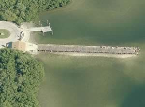 weedon island fishing pier aerial view
