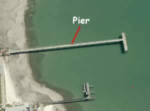 williams fishing pier gulfport aerial view