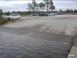 Archie Glover boat ramp Escambia Bay Florida