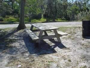 picnicking at bal alex ramp in santa rosa county