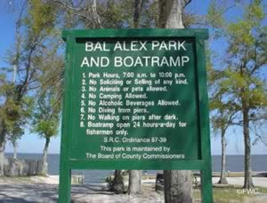 sign at bal alex park