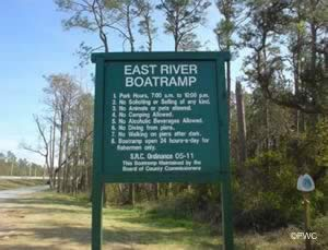 gulf breeze florida east river boat ramp
