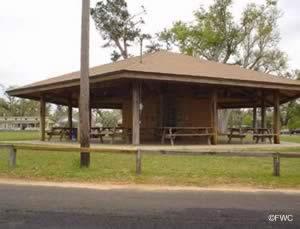 pavilion at floridatown boat ramp pace florida