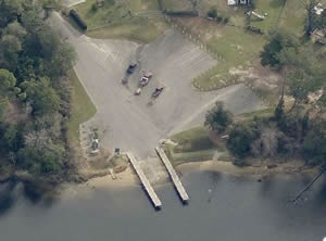 marquis basin boat ramp view, milton florida