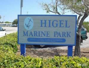 sign at higel marine park venice florida