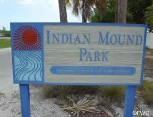sign at indian mound park englewood florida