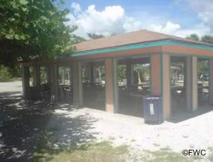 picnic pavilion at manasota beach park in englewood florida