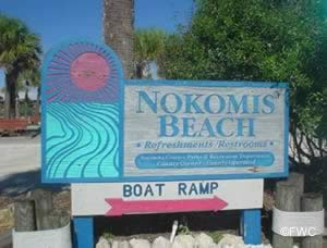 sign at nokomis beach boat ramp