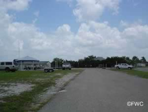 parking at the north port marina boat ramp