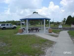 picnicking at the north port marina boat ramp