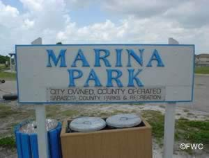 entrance sign to north port marina florida