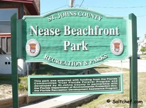 nease beachfront park sign