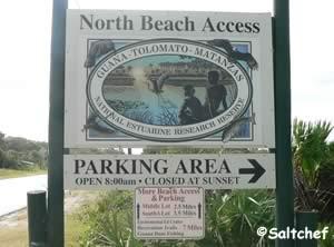 guana tolomato north beach access