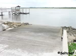 boat ramp at boating club road st augustine florida