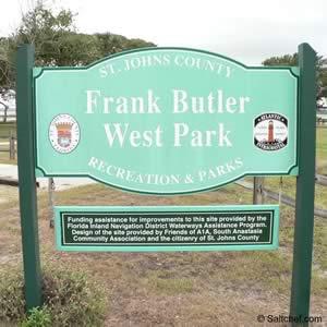 frank butler boat ramp sign st augustine florida