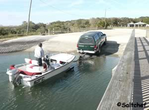 boat ramp at frank butler park west near st augustine