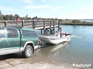 boat ramp at frank butler park west near crescent beach
