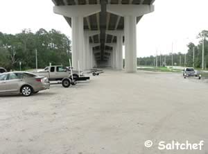 parking at the palm valley ramp ponte vedra florida