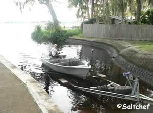 loading boat at palmo road boat ramp