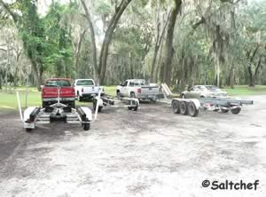 shaded parking for trailers at palmo road boat ramp
