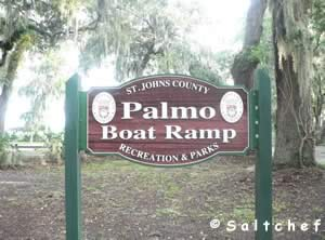 palmo road boat ramp sign