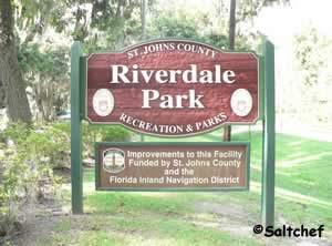 sign at entrance to riverdale park