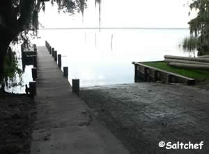 boat launching ramp into st johns river at riverdale park