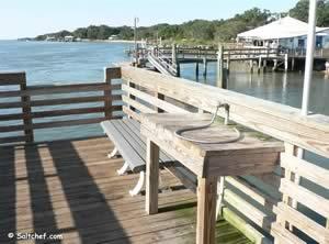 usina fishing pier near vilano on the bay side