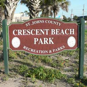 crescent beach park sign