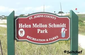 entrance sign to helen mellon schmidt preserve