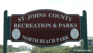 north beach park sign st augustine