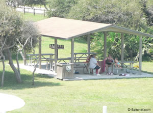 picnic at north beach park vilano st augustine florida