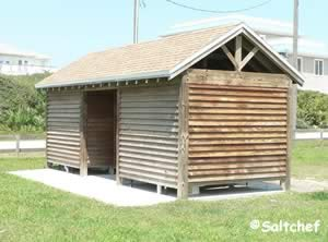 restrooms at north beach park st augustine florida