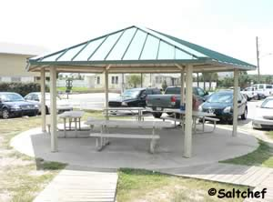 small pavilion at surfside park