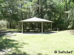 picnic pavilion near boat ramp