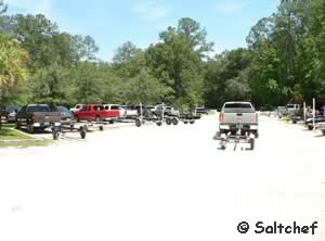 boat trailer parking at trout creek park st johns county