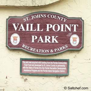 entrance sign at vaill point park st augustine