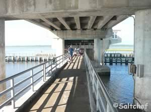 fishing pier under the east side of the 206 bridge
