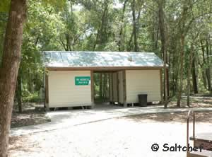 restrooms at alpine grove fishing pier