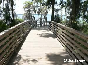 start of pier at alpine groves in st johns county fl