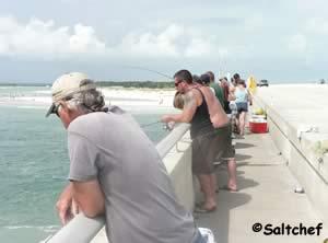 fishing from bridge at matanzas inlet st johns county florida