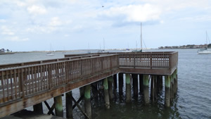 rose of sharon pier at bridge of lions in st augustine fl