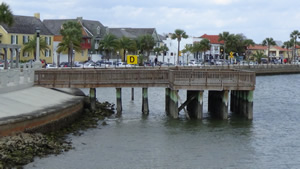 fishing pier near downtown st augustine