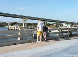 saltwater fishing pier at vilano