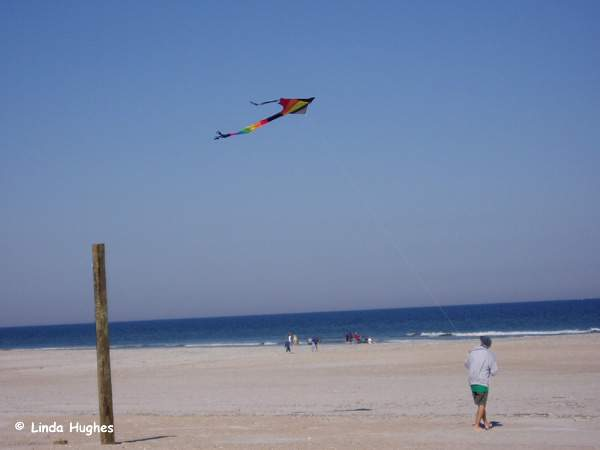 fly a kite at anastasia state park florida