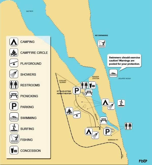 map of anastasia state park st augustine florida