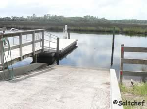 hand launch / small boat ramp at faver dykes