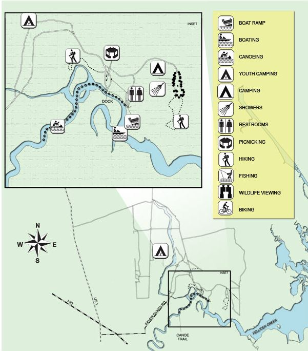 faver dykes map