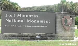 entrance to fort matanzas national monument in florida