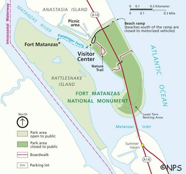 map of fort matanzas